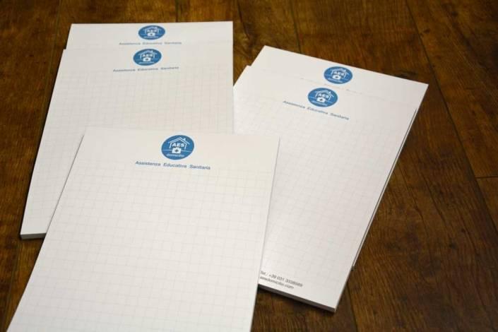 Stampa Blocchi note Personalizzati Como