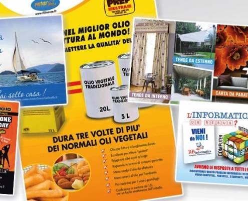 Stampa volantini e cartoline di diverse dimensioni e su diversi supporti