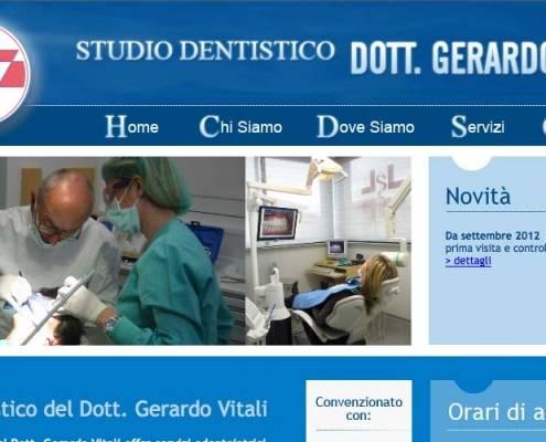 Realizzazione sito web per dentisti - Gerardo Vitali