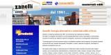 Sito internet Zanelli, vendita materiali edili, energia solare