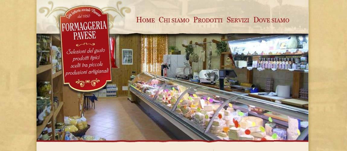 Sito web Formaggeria Pavese (Pavia)