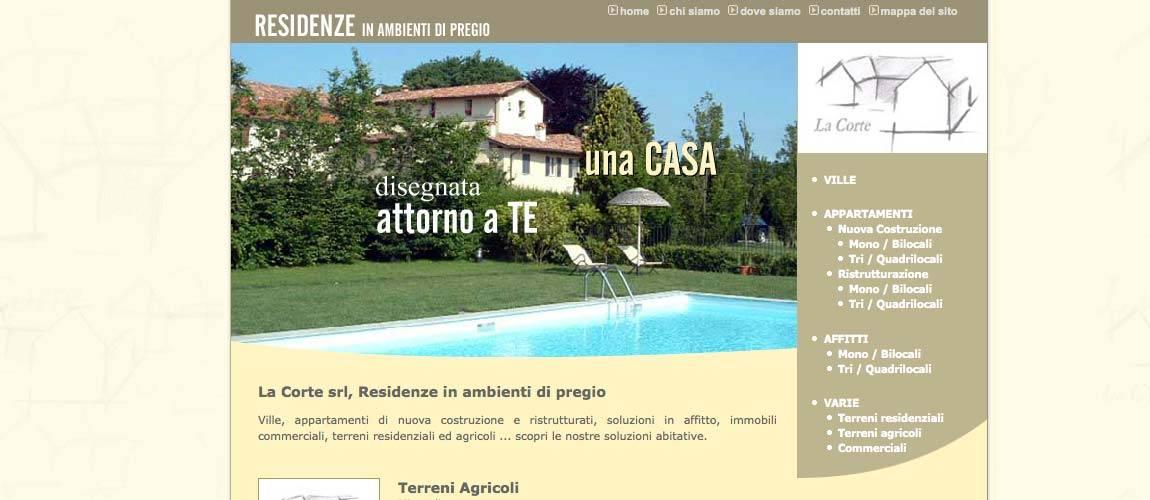 La Corte srl, creazione sito internet agenzia immobiliare
