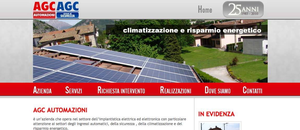 AGC Automazioni, creazione sito web impianti elettrici