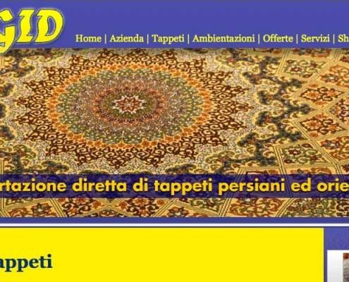 Magid Tappeti, Realizzazione sito web negozio tappeti