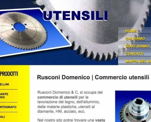 Rusconi utensili di Sirone (Lecco), Realizzazione sito web
