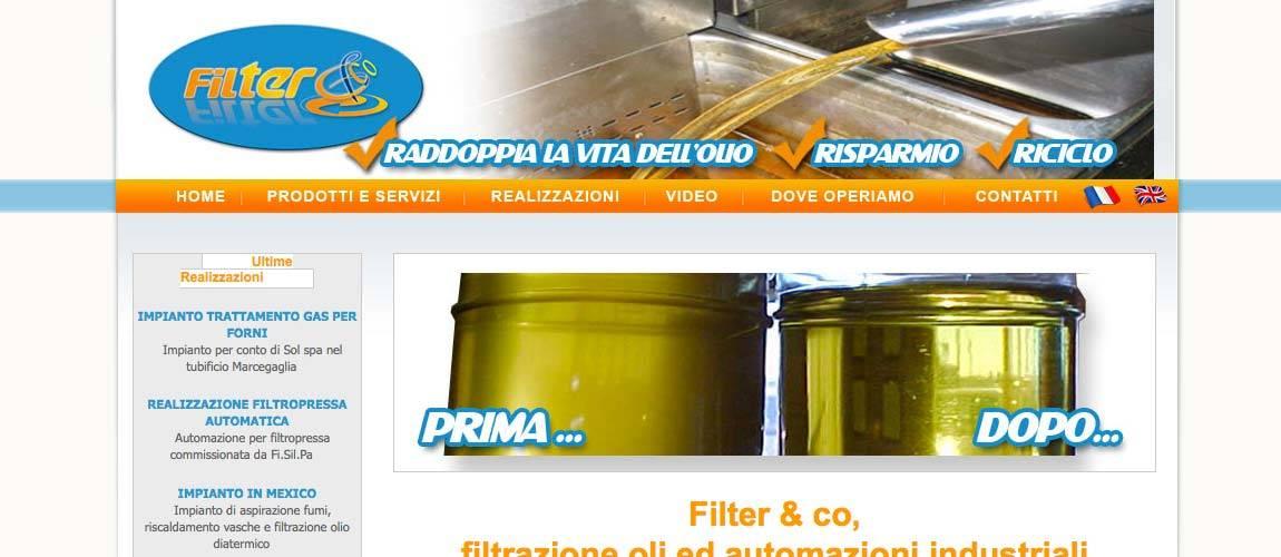 Realizzazione sito web Filter & Co.