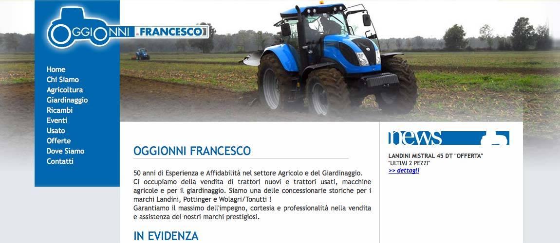 Oggionni Francesco, realizzazione sito web