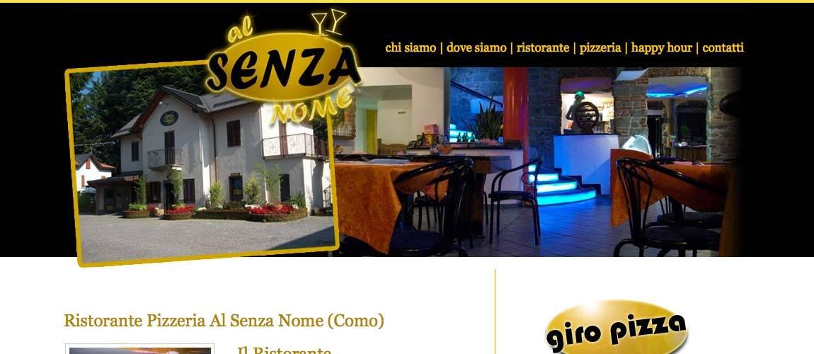 Creazione sito web ristorante pizzeria a Como Al Senza Nome