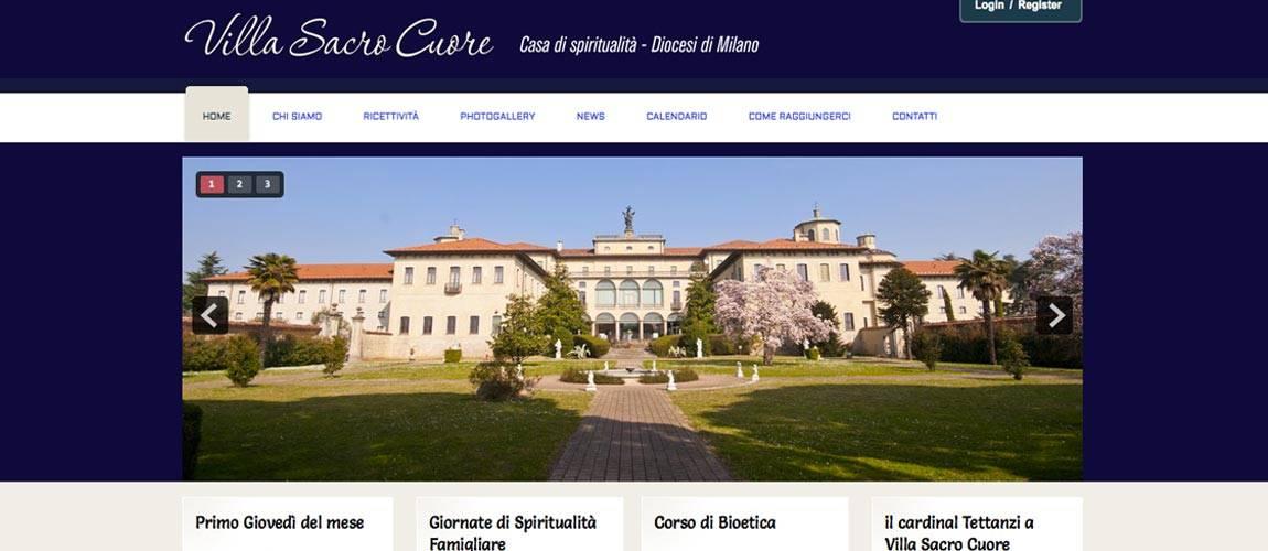 Realizzazione sito web Villa Sacro Cuore Triuggio