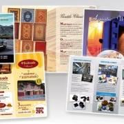 Elaborazione grafica e stampa brochure, depliant pieghevoli con diverse ante