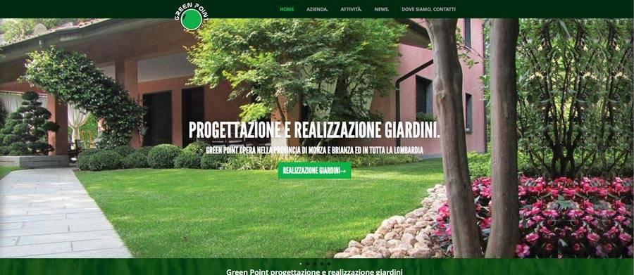 Realizzazione sito web giardiniere in provincia di monza e for Giardiniere milano