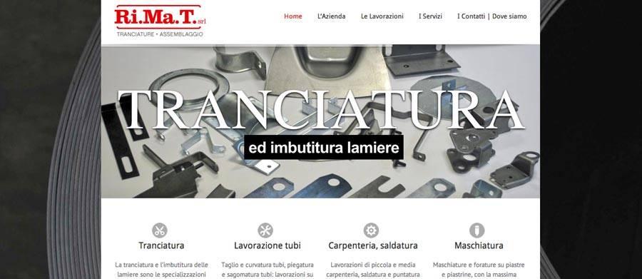 Realizzazione sito web tranciature-meccanica
