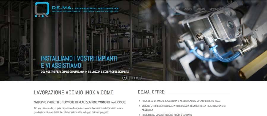sito web azienda meccanica
