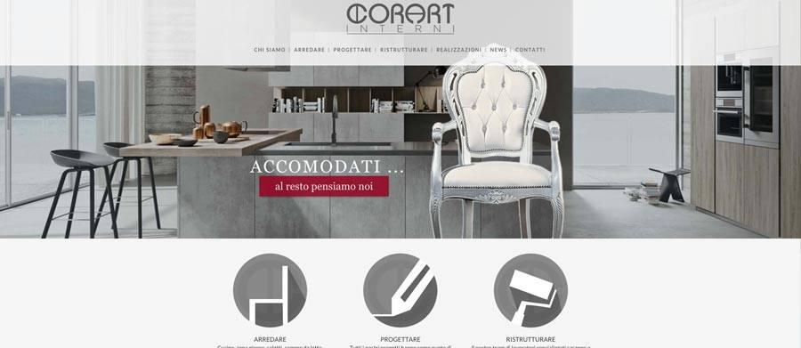 Progettazione sito web a desio corart design d 39 interni for Siti arredamento interni