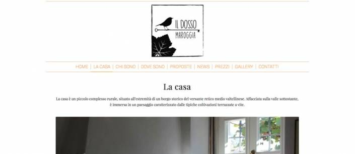 Sito web bed and breakfast Valtellina