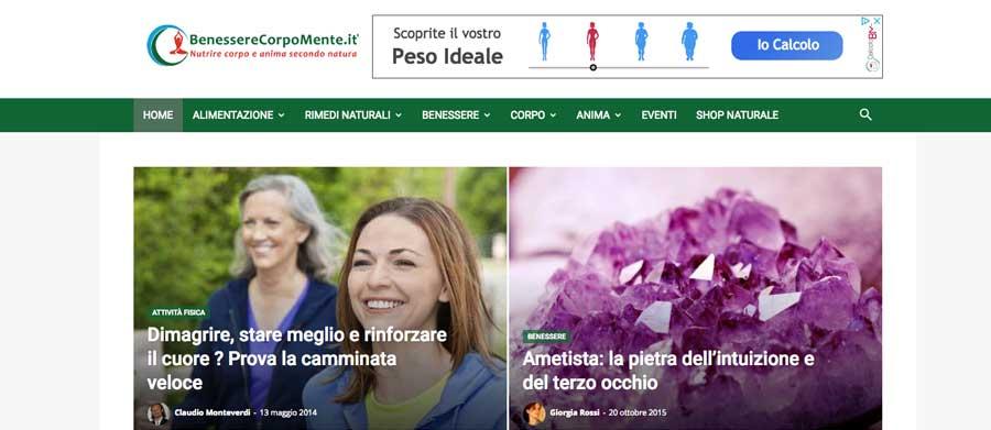 Realizzazione sito web BenessereCorpoMente