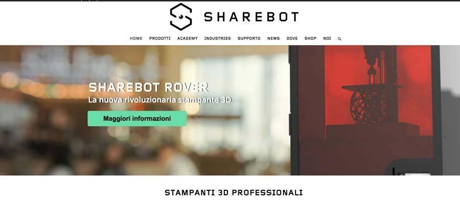 Restyling sito web Sharebot Nibionno