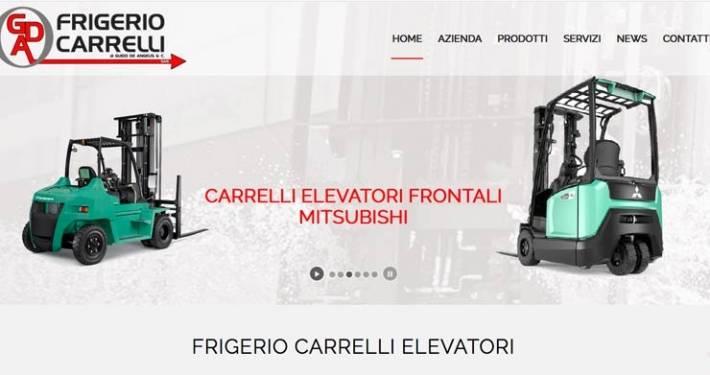 Realizzazione sito web Frigerio Carrelli