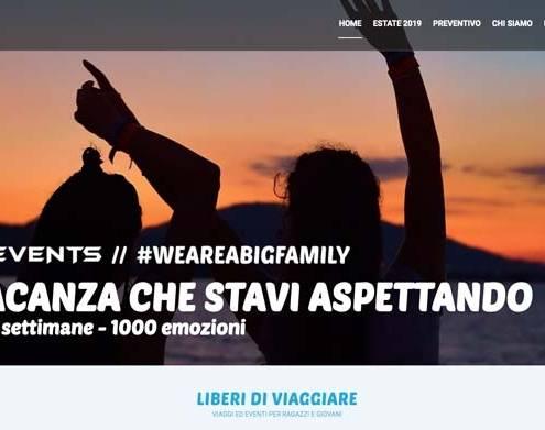 Realizzazione sito internet Errezeta-Events