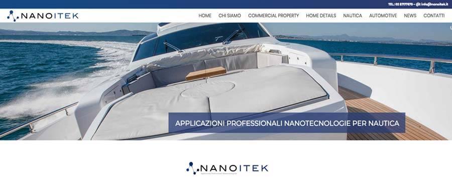 Realizzazione sito Web Nanotecnologie Milano